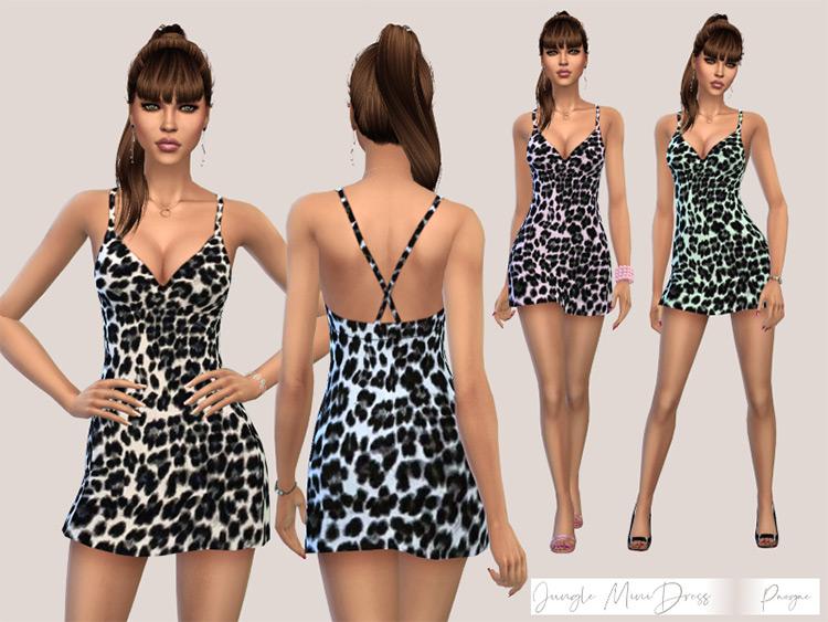 Jungle Mini Dress for The Sims 4