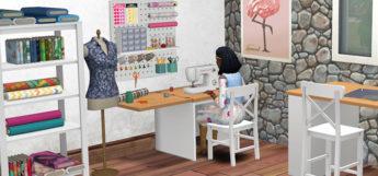 Sims 4 sewing station screenshot