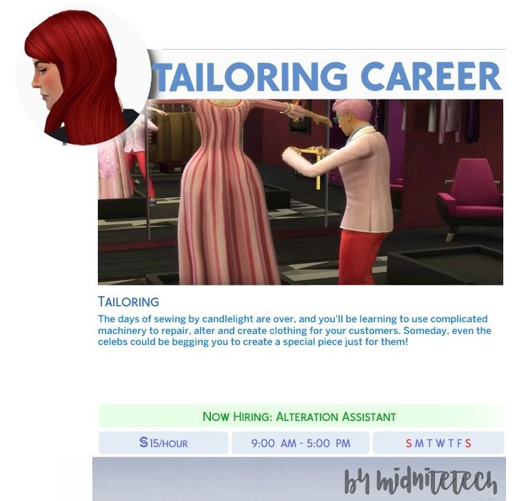 Tailoring Career Mod / The Sims 4