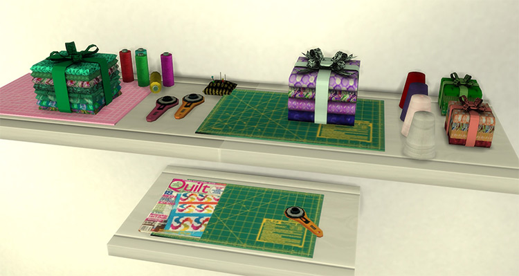 Sewing Clutter Pack / Sims 4 CC