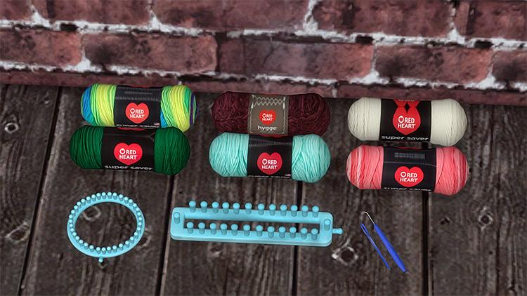 Loom Knitting Set / Sims 4 CC
