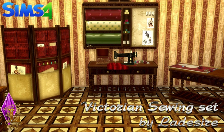 Victorian Sewing Set for The Sims 4