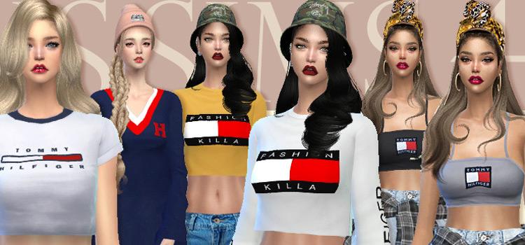 Tommy Hilfiger fashion set for girls / Sims 4 CC