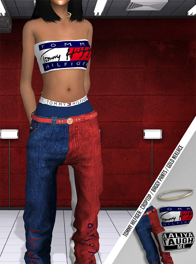 Aaliyah Tommy Hilfiger Collection / Sims 4 CC