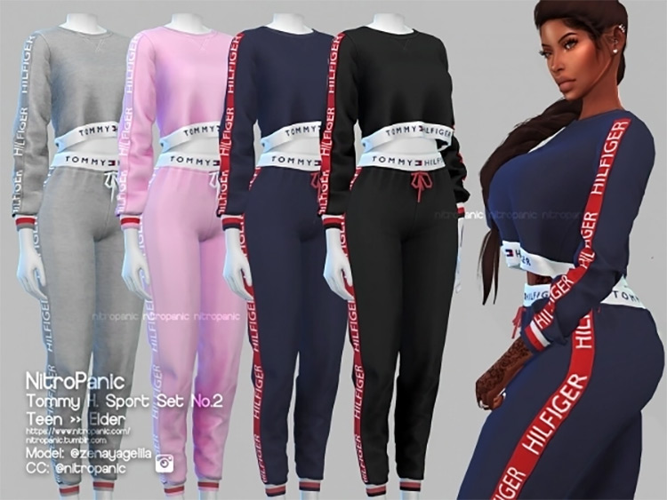 Tommy H Sportset No. 2 for The Sims 4