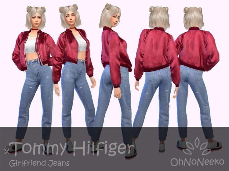 ONN Tommy Hilfiger Girlfriend Jeans / Sims 4 CC