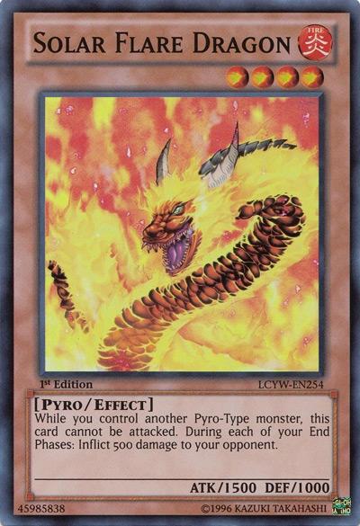 Solar Flare Dragon Yu-Gi-Oh card