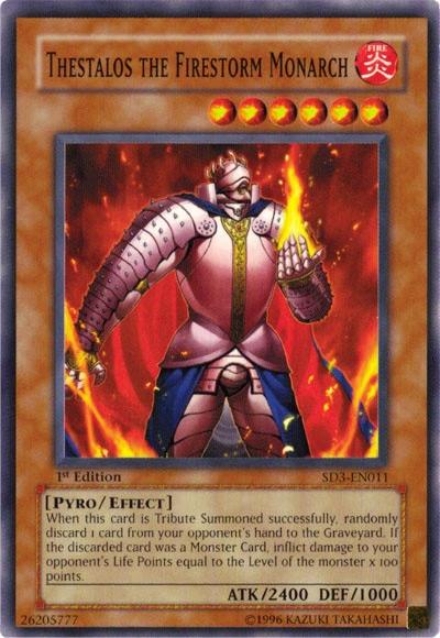 Thestalos the Firestorm Monarch / Yu-Gi-Oh Card