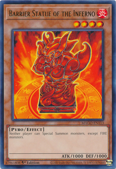 Barrier Statue of the Inferno / Yu-Gi-Oh Card