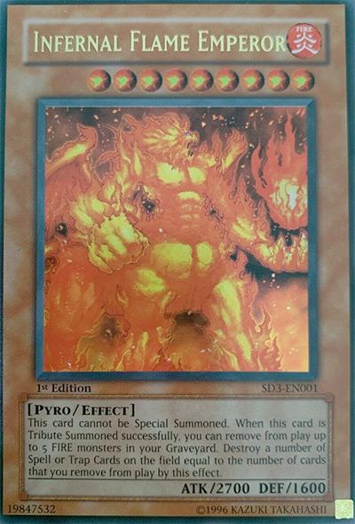 Infernal Flame Emperor / Yu-Gi-Oh Card