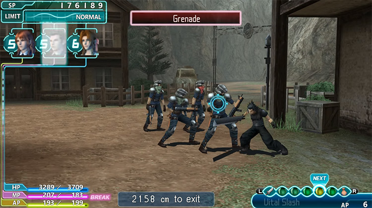 Crisis Core: Final Fantasy VII PSP gameplay