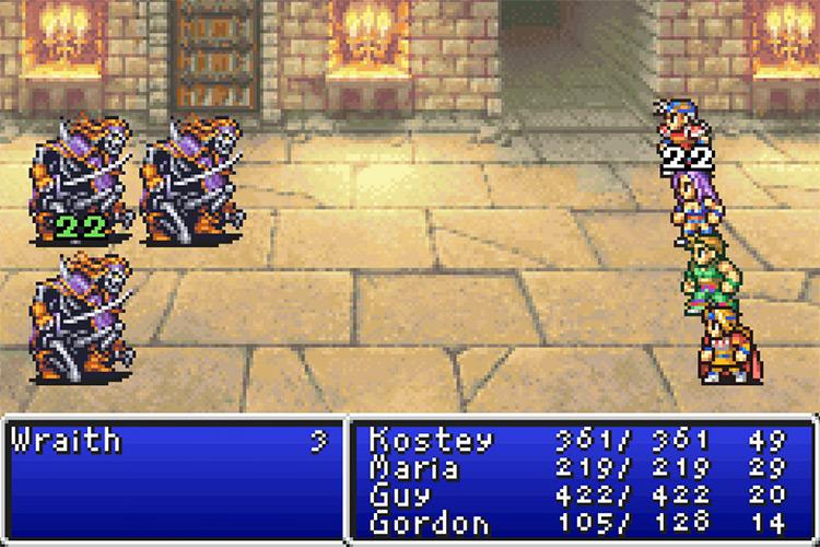 Final Fantasy I & II: Dawn of Souls gameplay / GBA
