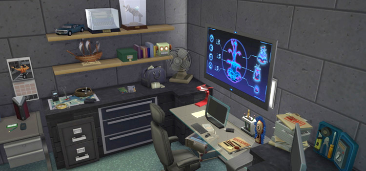 Spy home interior in The Sims 4