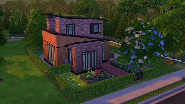 Modern Spy's Home Sims 4 Lot