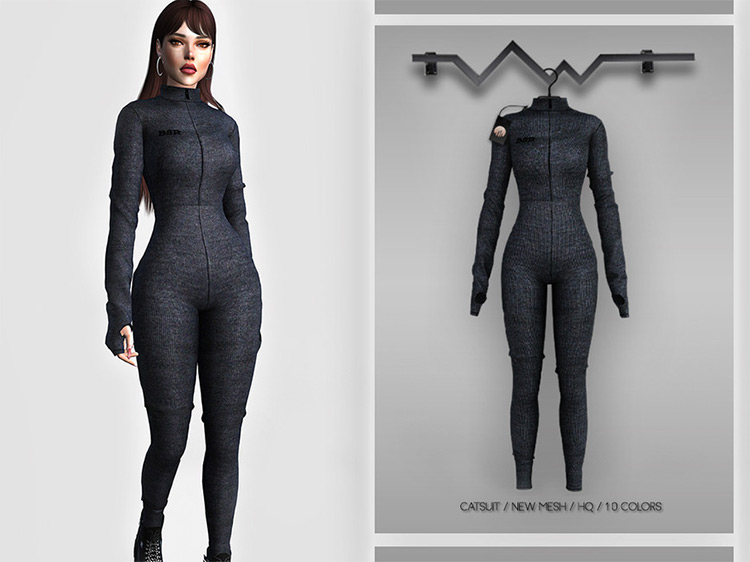 Women's Catsuit Outfit / Sims 4 CC