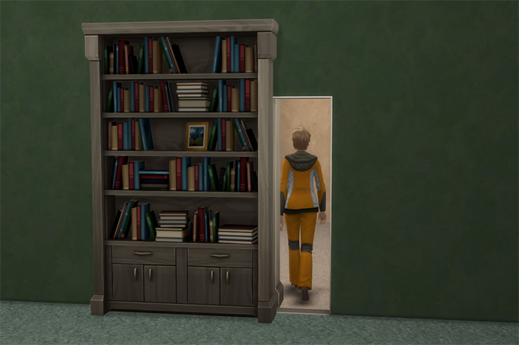 The Muse Hidden Door for The Sims 4