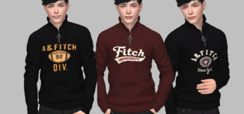 Abercrombie & Fitch Male Sweaters / Sims 4 CC