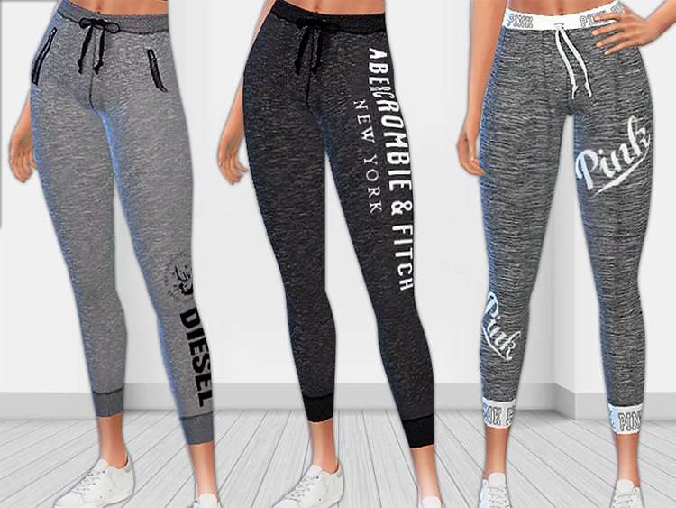 A&F Athletic Track Pants / Sims 4 CC