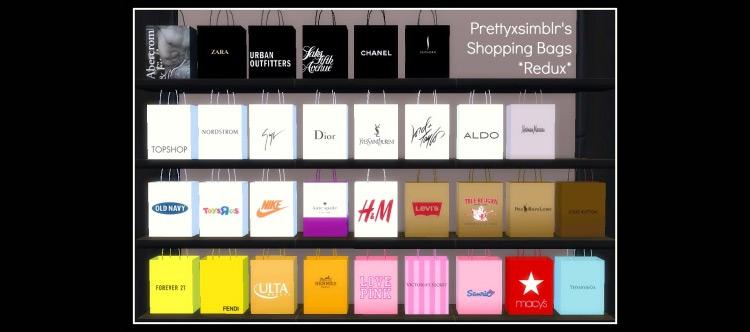 Shopping Bags Redux Set / Sims 4 CC
