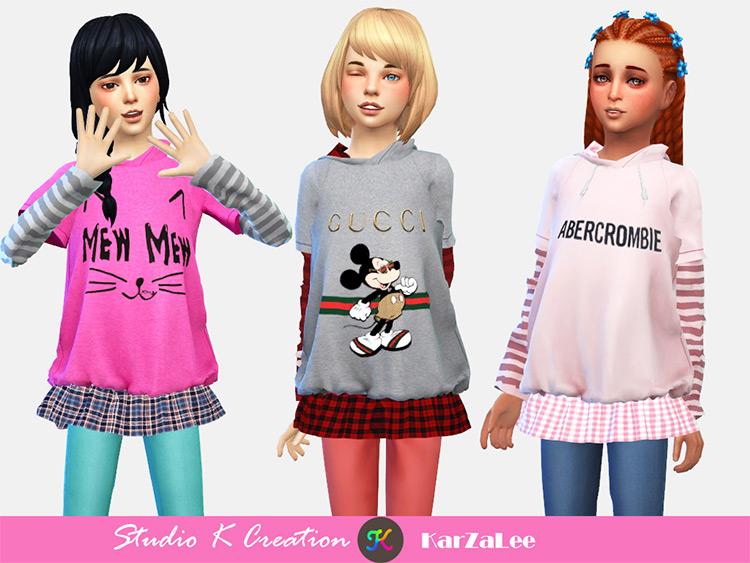 A&F Hoodie Sweatshirt for Children / TS4 CC
