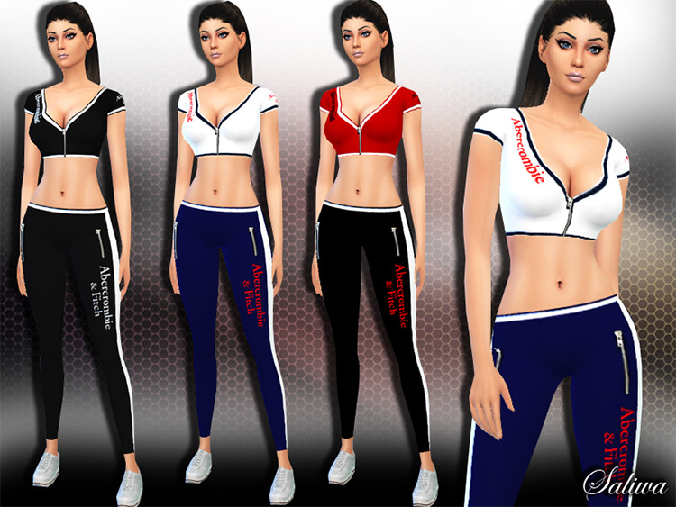 AF Fitness Outfits for The Sims 4