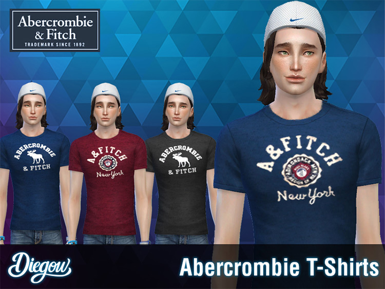 Abercrombie & Fitch T-Shirts for The Sims 4