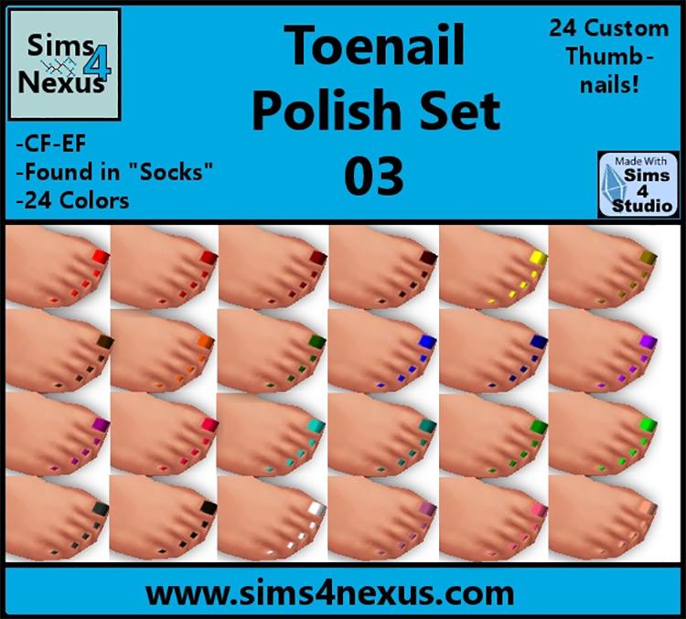 Toenail Polish Set #3 / Sims 4 CC