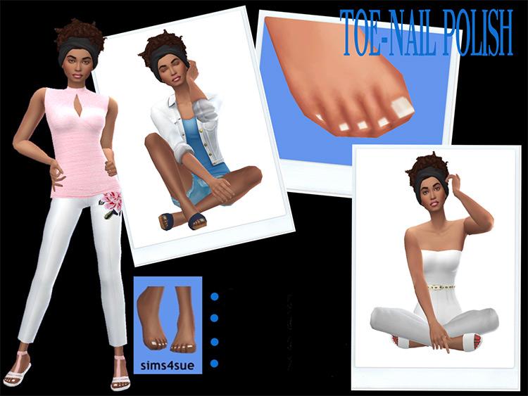 Toenail Polish Recolors for The Sims 4