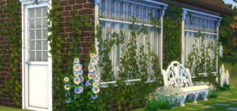 Sims 4 Ivy Wall Exterior CC Screenshot