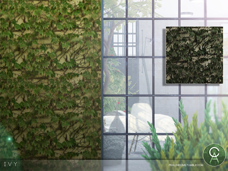 Ivy Wall CC for The Sims 4