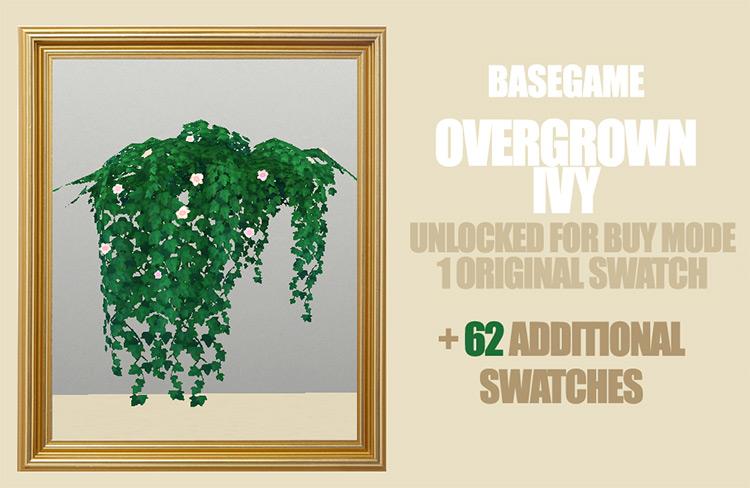 Basegame Overgrown Ivy / TS4 CC