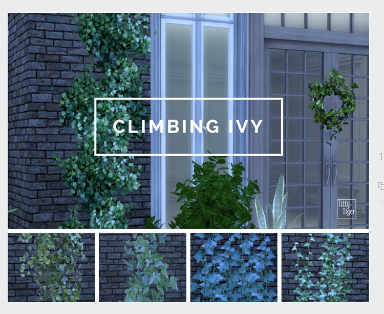 Climbing Ivy CC for The Sims 4