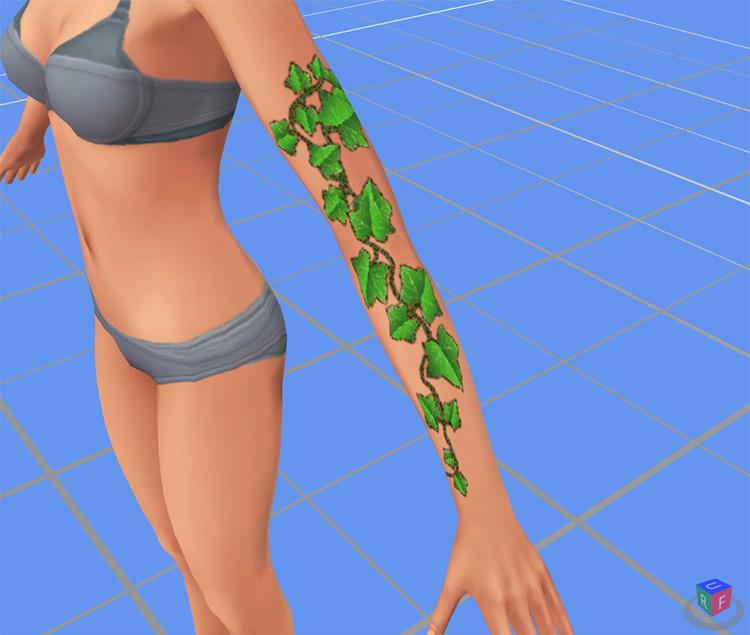 Ivy Vine Arm Tattoo / Sims 4 CC