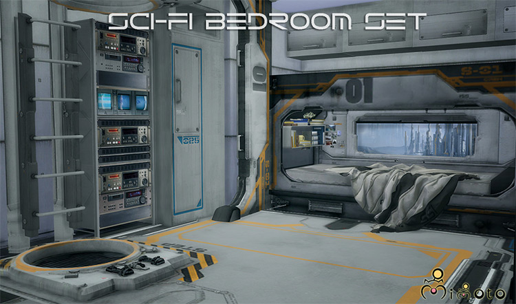 Sci-Fi Bedroom Set for The Sims 4