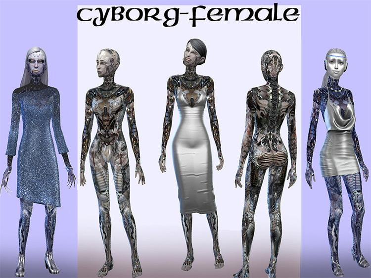 Cyborg Skinton and Mask Set / TS4 CC