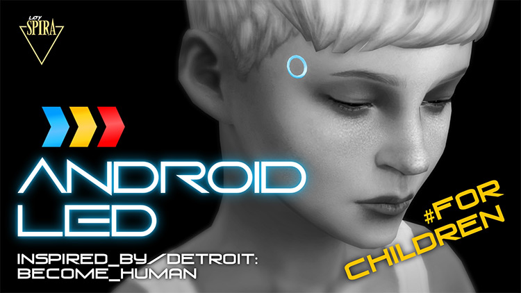 Glowing Android LEDs for Children / TS4 CC