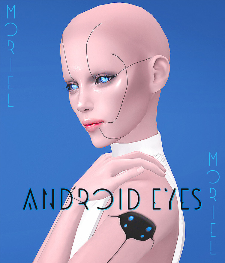 Android and Cyber Eyes / Sims 4 CC