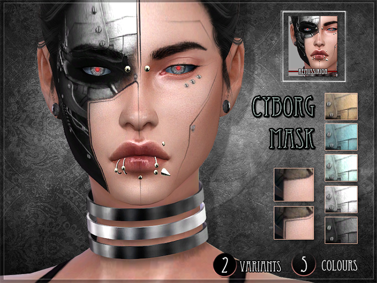Cyborg Mask for The Sims 4