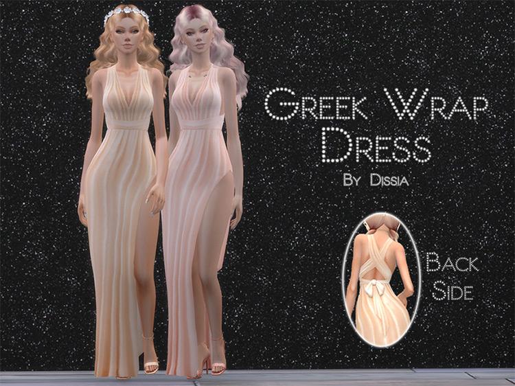 Greek Wrap Dress / TS4 CC
