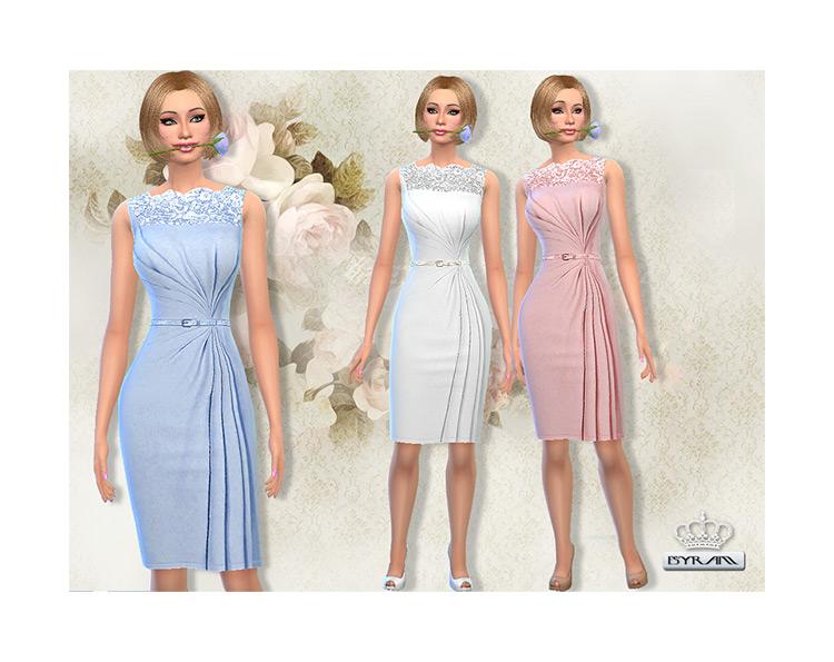 Draped Wrap Dress / Sims 4 CC