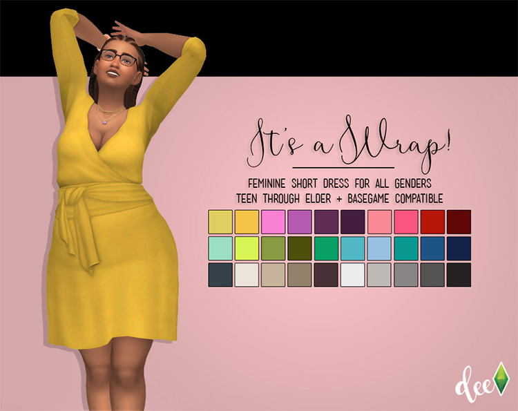 It's a Wrap (Dress) for The Sims 4