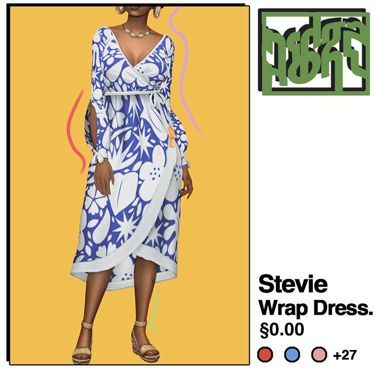 Stevie Wrap Dress / Sims 4 CC