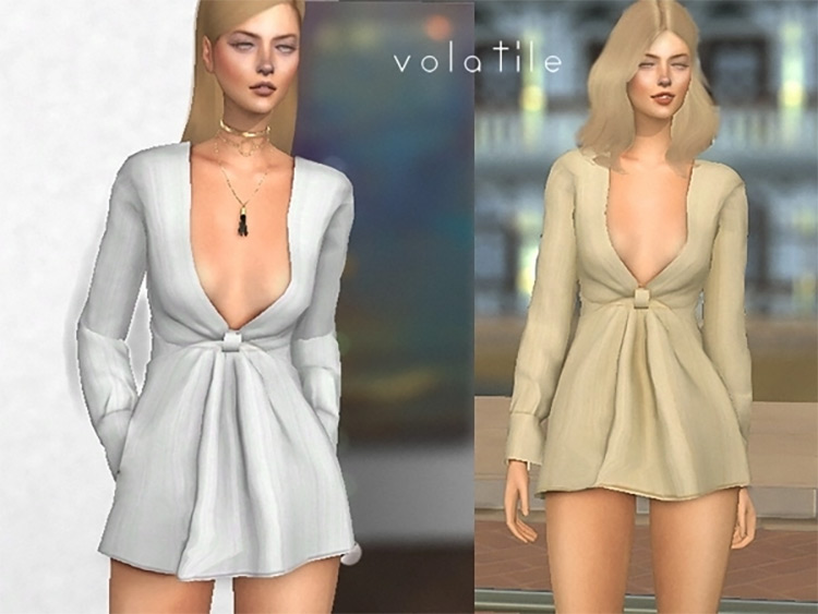 Kylie Wrapped Dress / Sims 4 CC