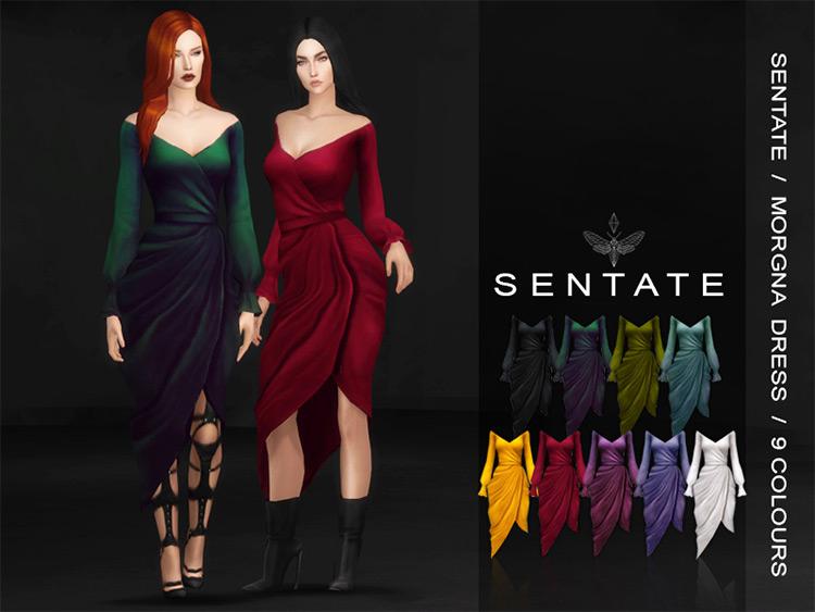 Morgana Wrap Dress / Sims 4 CC