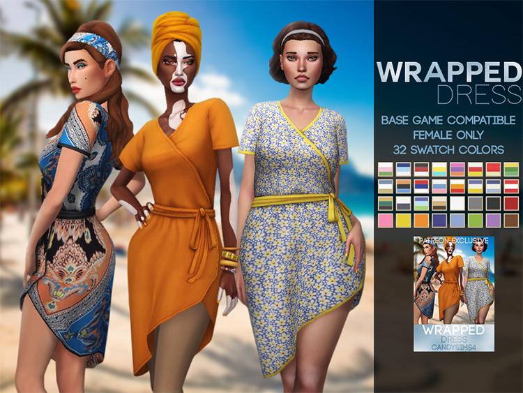 Wrapped Dress Design / TS4 CC