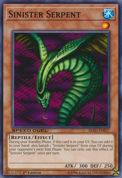Sinister Serpent YGO Card