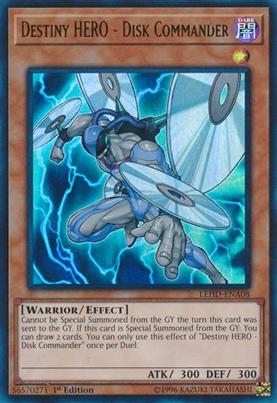 Destiny Hero – Disk Commander Yu-Gi-Oh Card