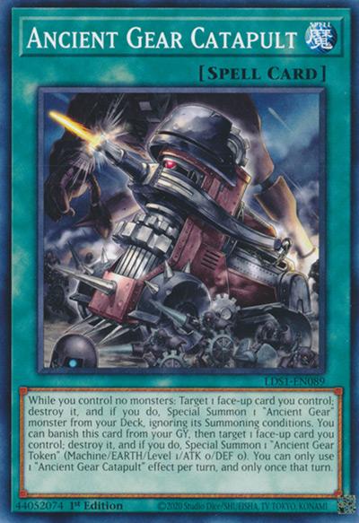 Ancient Gear Catapult Yu-Gi-Oh Card