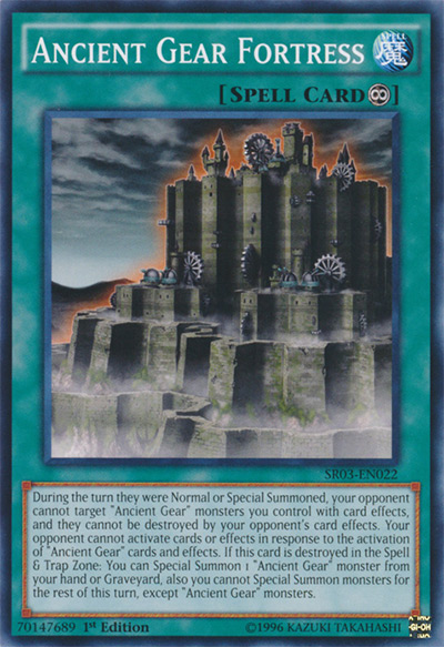 Ancient Gear Fortress YGO Card