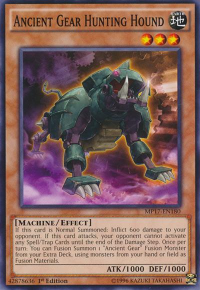 Ancient Gear Hunting Hound YGO Card